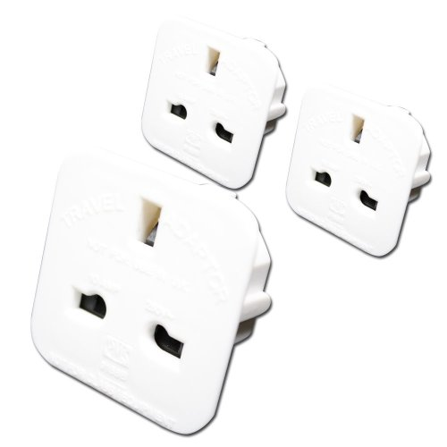 DJ2GO Travel 5x UK to USA and Australia Plug Travel Adaptors