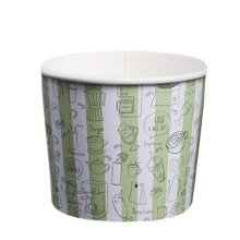 Frozen Dessert Supplies Ice Cream Cups Disposable 200 Count Fun Colors  Paper Cups,18 oz,