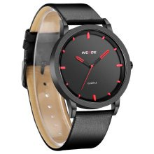 WEIDE Men's Black & Red Fashion Watch WD001B-1C