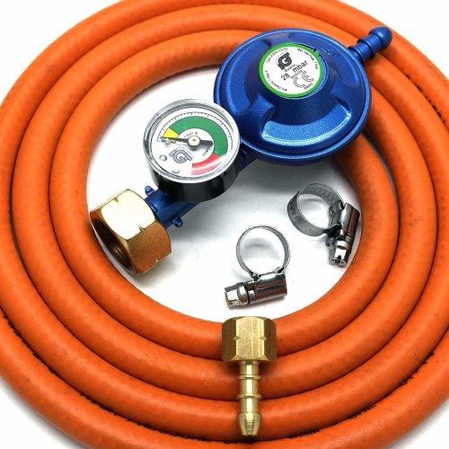 Igt 4.5Kg Butane Gas Regulator & Gauge Replacement Hose Kit Uk Cadac Lp Models