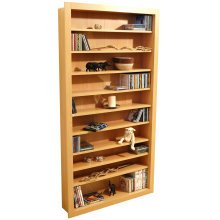 BALTIMORE - Large 730 CD / 300 DVD / Blu-ray / Media Storage Shelves - Beech