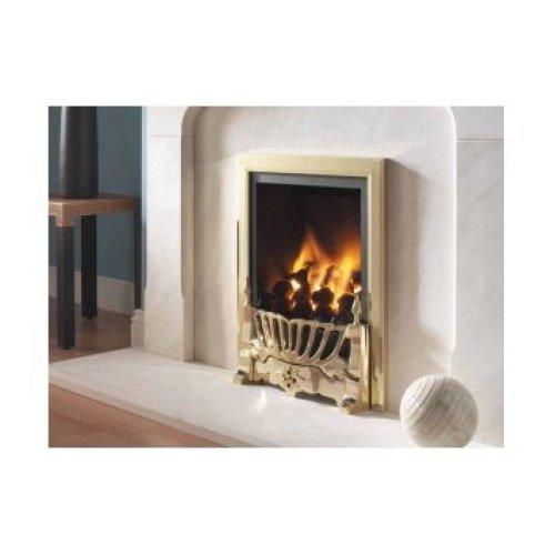 Designer Fire - Flavel FVPC14MN Brass Traditional Kenilworth Powerflue Gas Fire -MC