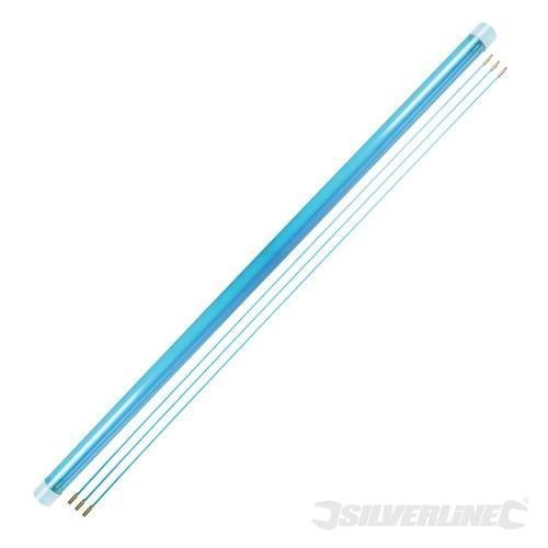 Silverline Cable Access Kit 13pce 10 x 1m -  cable access kit silverline x 1m 10 633531 13pce rods