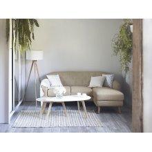 Beige Upholstered Corner Sofa IVALO