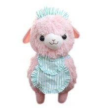 "Plush Doll for Kids Maid Lamb Plush Toy Ideas Stuffed Alpaca with Scarf(H) 16.5"""