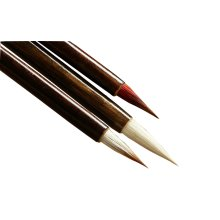 Painting & Calligraphy Tools Set of 3 Chinese Writing Brushes -Three Type