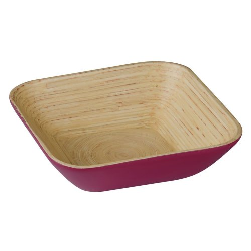 Kyoto  Spun Bamboo Salad Bowl, Raspberry