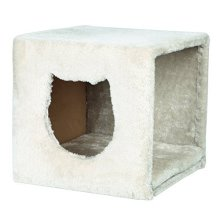 Trixie Cuddly Cave For Shelves, 33 x 33 x 37, Light Grey - Shelves 37 -  33 x cuddly cave trixie light grey shelves 37