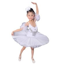 (Toddler/kid)Ballet Dress/Sling Ballet Skirt/Swan Lake Costumes-White