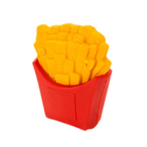 15Pcs Lovely Eraser Pencil Erasers Office/School Stationery, Fries