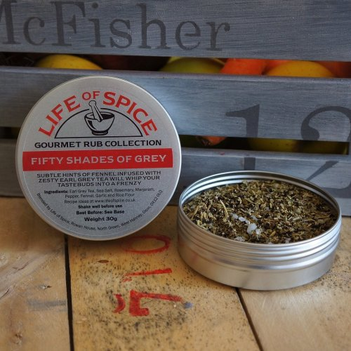 Fifty Shades of Grey - Life of Spice Gourmet Barbecue Rub (30g) - Great Taste Award winner - Rosemary, Fennel and Earl Grey Tea