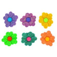 Pure Sugar - Flower Shaped Novelty Craft Buttons / Embellishments by Dress It Up