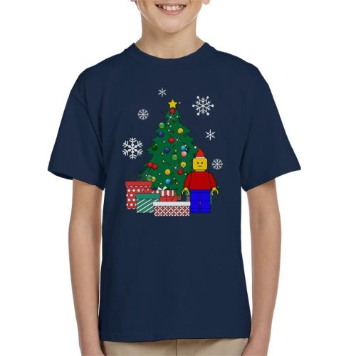 Lego Man Around The Christmas Tree Kid's T-Shirt