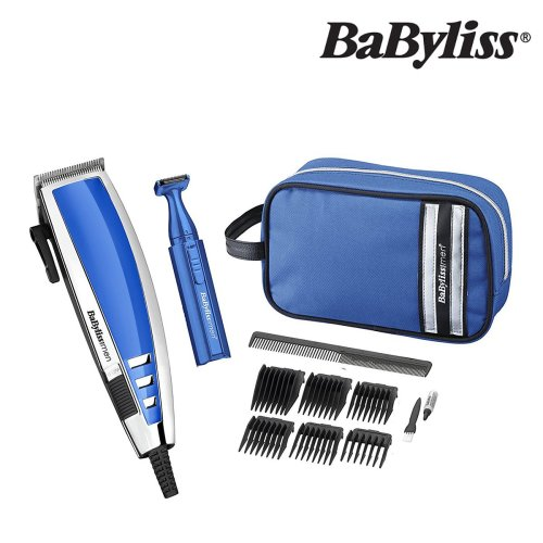Babyliss 7447GU Hair Clipper Gift Set For Men With Wash Bag & Cleaning Bag
