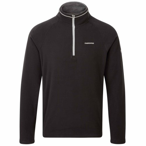 Craghoppers Men's Selby Half Zip Jacket, Black, Medium