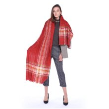 Fibres Scarf Striped Tassels Shawls And Scarves