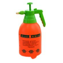 Orange Air Pressure Watering Can Garden Tool Cleaning Supply, 2L, 5.1x5.1x11.8""