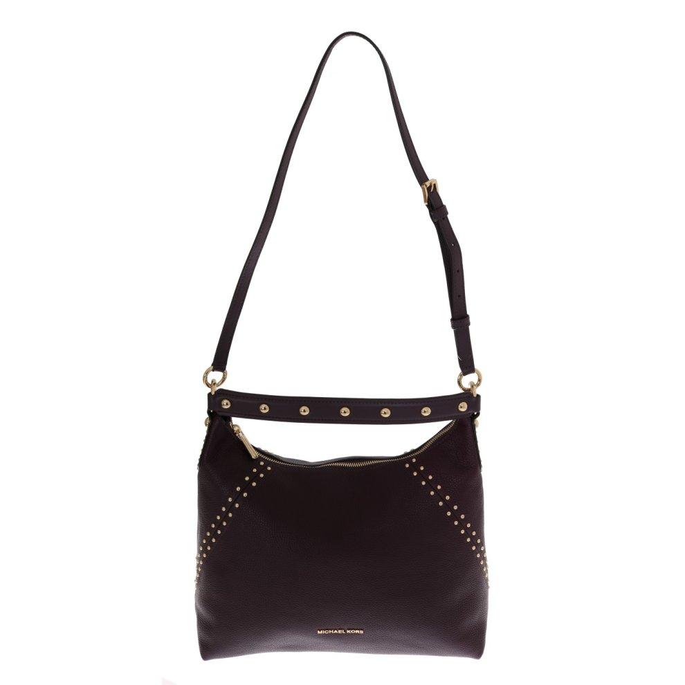 dfd22119bd8e ... Michael Kors Handbags Bordeaux ARIA Leather Shoulder Bag - 1 ...
