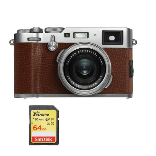 FUJIFILM X100F Brown + SanDisk Extreme 64G SD card