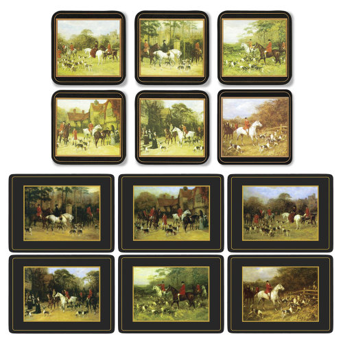 Pimpernel Tally Ho Placemats and Coasters Set of 6