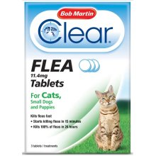 (Cats, Small Dogs and Puppies) Bob Martin Clear Cat & Dog Flea Tablets