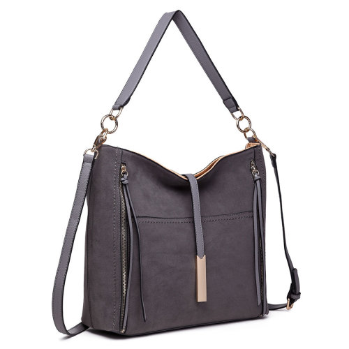 Miss Lulu Women Suede Leather Shoulder Bag Tassel Handbag Tote
