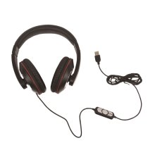 SoundLAB Stereo USB Headphones With Built-in Microphone