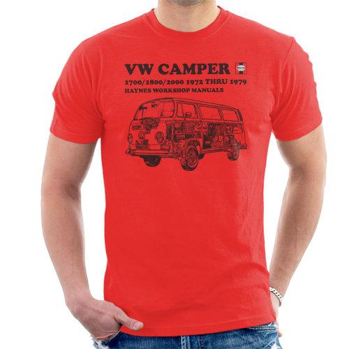 Haynes Workshop Manual VW Camper 72 To 79 Black Men's T-Shirt