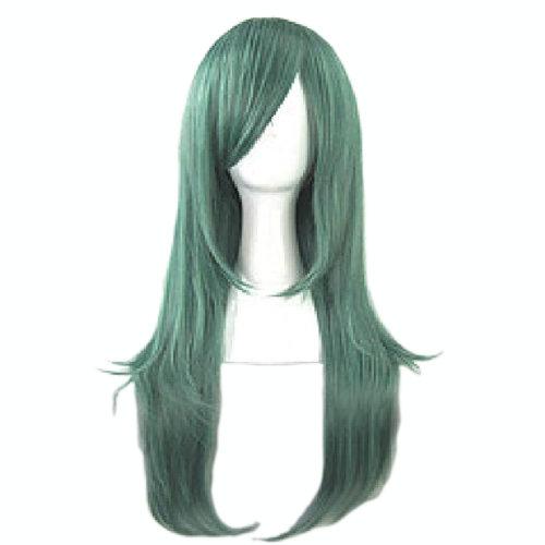 70CM Fashion Fluffy Long Straight Healthy Hair Wigs Full Hair Wigs Green