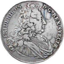 Very Rare 1724 Sweden  King Frederick I Silver One Riksdaler first Swedish thaler (taler)