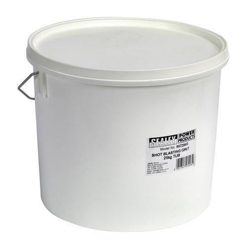 Sealey BGT25KG 25kg Plastic Tub Shot Blasting Grit