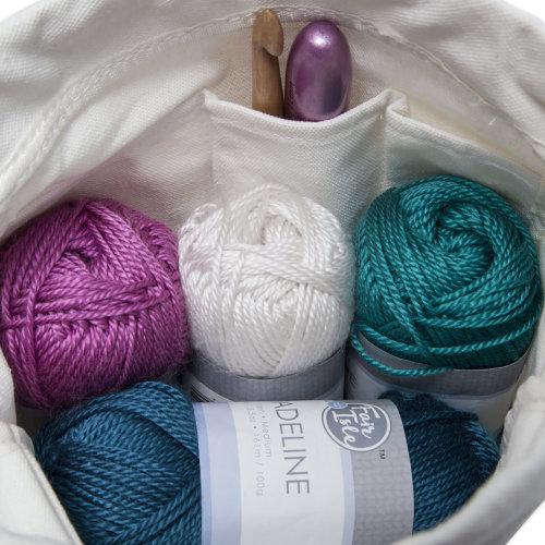 Fair Isle Canvas Wrist Bag-Happiness Is Handmade