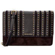 Michael Kors Brooklyn Grommet Large Leather Crossbody Bag - Black - 32F6ABHC3S-001