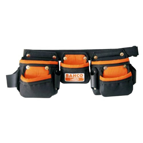 BAHCO Junior Tool Belt Bag Holster Holder with Three Pouches Black 4750-JU3PB-1