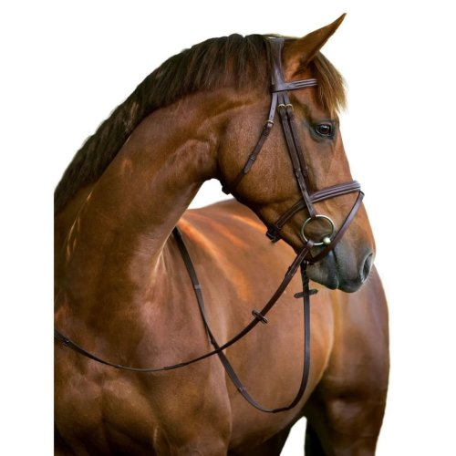 Kerbl Snaffle Bridle Classic Leather Brown Pony 324911
