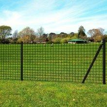 vidaXL Euro Fence Set 10x1 m Steel Grey