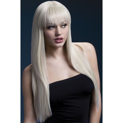 Fever Women's Jessica Wig, One Size, Blonde -  fever wig jessica blonde fancy dress 26inch66cm womens smiffys one size