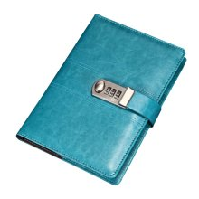 Creative Password Notebook With Lock Notebook Diary Business Notepad, Blue