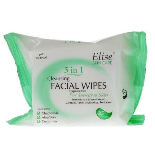 Elise 5 in 1 Cleansing Facial Wipes - Sensitive
