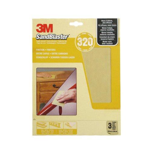 3M SandBlaster Sandpaper Sheets Universal, beige, 4303