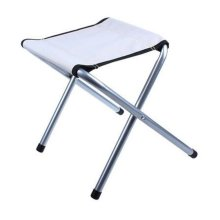 Portable Folding Chair Stool Camping Chairs Fishing Travel Paint Outdoor, Light Gray