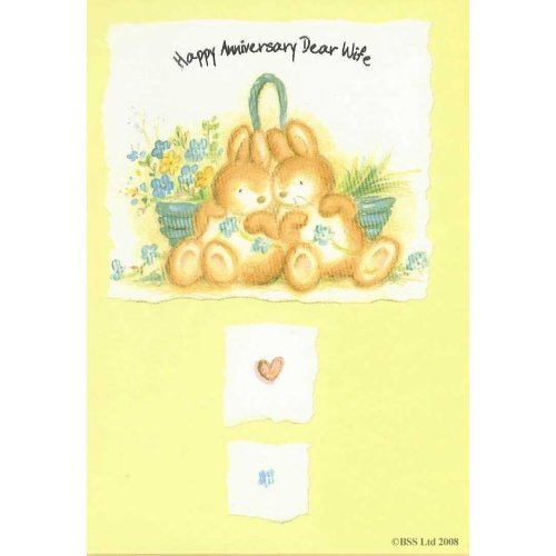 Happy Anniversary Dear Wife Greeting Card
