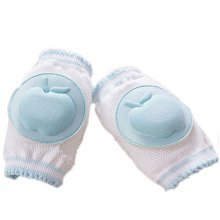 Set of 2 Cotton Mesh  Baby Leg Warmers Knee Pads/Protect-Apple, Blue