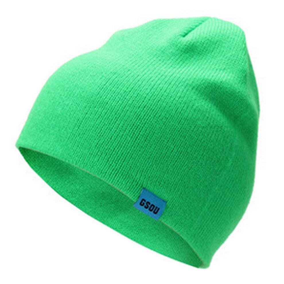 406e8d8ba4a Unisex Stylish Soft Warm Beanie Hat Ski Snow Cap Knit Winter Hats ( Green )  ...