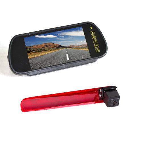Vardsafe Brake Light Parking Camera + 7 Inch Clip-on Rear View Mirror Monitor for Volkswagen Transporter T5 / T6
