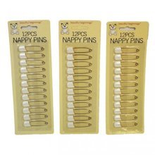 Nappy Pins 12 Pack