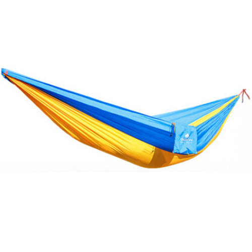 Multifunctional Camping Hammock Hanging Bed Double Size[2.6*1.3m] Yellow/Blue
