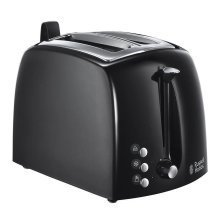 Russell Hobbs Textures plus 2 Slice Toaster - Black (Model No. 22601)