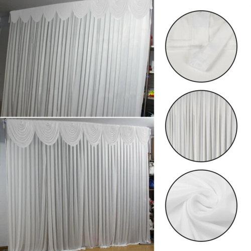 3M X 3M White Stage Wedding Backdrop Photography Background Drape Curtains UK