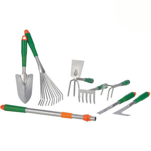 8 Piece Garden Tool Set including Telescopic Handle